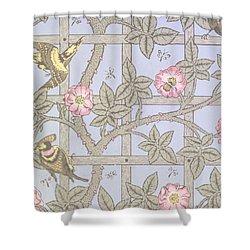Trellis   Antique Wallpaper Design Shower Curtain by William Morris