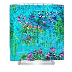Tribute To Monet Shower Curtain by Holly Martinson