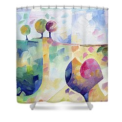 Trio Shower Curtain by Beatrice BEDEUR