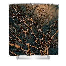 Trippy Tree Shower Curtain by Linda Sannuti