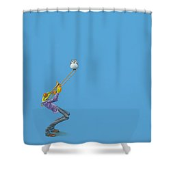 Trombone Shower Curtain by Jasper Oostland