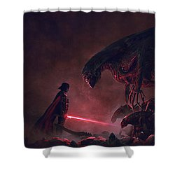 Troopers Vs Space Cockroaches 9 Shower Curtain by Guillem H Pongiluppi
