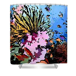 Tropical Coral Reef  2 Shower Curtain by Lanjee Chee