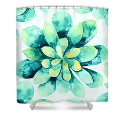 Tropical Flower  Shower Curtain by Mark Ashkenazi