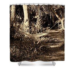 Tropical Hammock Shower Curtain by Susanne Van Hulst
