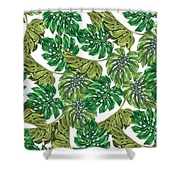 Tropical Haven  Shower Curtain by Mark Ashkenazi