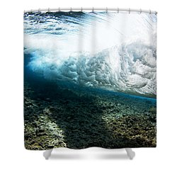 Tropical Wave Curl Shower Curtain by Dave Fleetham - Printscapes