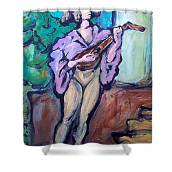 Troubadour Shower Curtain by Kevin Middleton