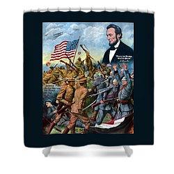 True Sons Of Freedom -- Ww1 Propaganda Shower Curtain by War Is Hell Store