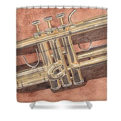 Trumpet Shower Curtain by Ken Powers