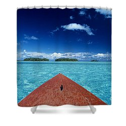 Tuamotu Islands, Raiatea Shower Curtain by William Waterfall - Printscapes