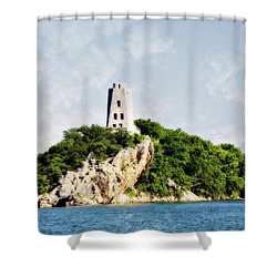 Tucker Tower Shower Curtain by Lana Trussell