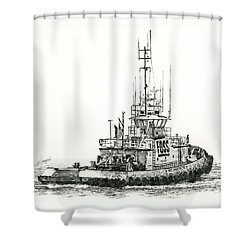 Tugboat Daniel Foss Shower Curtain by James Williamson