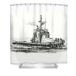 Tugboat Kelly Foss Shower Curtain by James Williamson