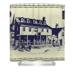 Tun Tavern - Birthplace Of The Marine Corps Shower Curtain by Bill Cannon