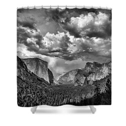Tunnel View In Black And White Shower Curtain by Rick Berk
