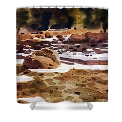 Tuolumne River Freeze Shower Curtain by Donald Maier