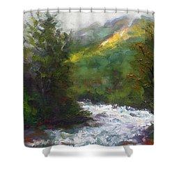 Turbulence Shower Curtain by Talya Johnson