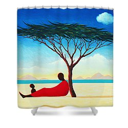 Turkana Afternoon Shower Curtain by Tilly Willis