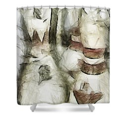 Turkey Out Shower Curtain by Trish Tritz