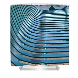Turquoise Wave Shower Curtain by Jan Amiss Photography