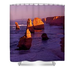 Twelve Apostle Dawn Shower Curtain by Mike  Dawson