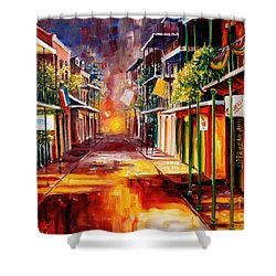 Twilight In New Orleans Shower Curtain by Diane Millsap