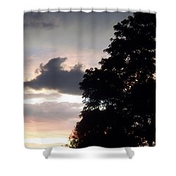 Twilight Landscape Shower Curtain by Eric  Schiabor