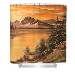 Twilight Shower Curtain by Remegio Onia