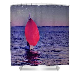 Twilight Spinnaker Shower Curtain by Sandy Taylor