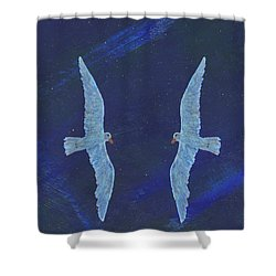 Twins Shower Curtain by Manuel Sueess