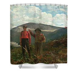 Two Guides Shower Curtain by Winslow Homer