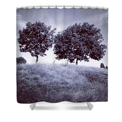 Two Rowans The Cloddies, Nuneaton Shower Curtain by John Edwards