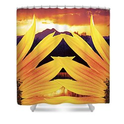 Two Sunflower Sunset Shower Curtain by James BO  Insogna