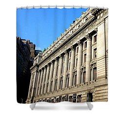 U S Custom House 1 Shower Curtain by Randall Weidner