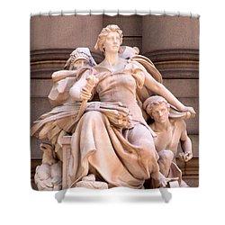 U S Custom House 4 Shower Curtain by Randall Weidner