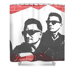 U2 Graffiti Tribute Shower Curtain by Dan Sproul