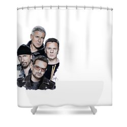U2 Shower Curtain by Melanie D