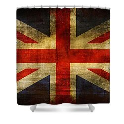 Uk Flag Shower Curtain by Brett Pfister