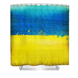Ukraine Flag Shower Curtain by Setsiri Silapasuwanchai