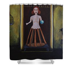 Uncaged Shower Curtain by Leah Saulnier The Painting Maniac