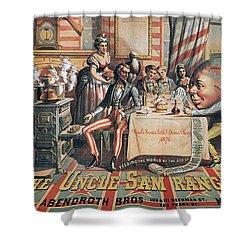 Uncle Sam Range Ad, 1876 Shower Curtain by Granger