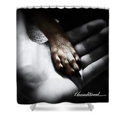 Unconditional Shower Curtain by Shana Rowe Jackson