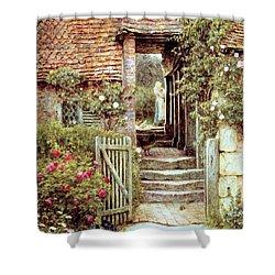 Under The Old Malthouse Hambledon Surrey Shower Curtain by Helen Allingham