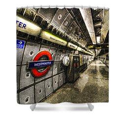 Underground London Art Shower Curtain by David Pyatt