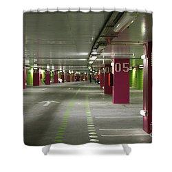 Underground Parking Lot Shower Curtain by Gaspar Avila
