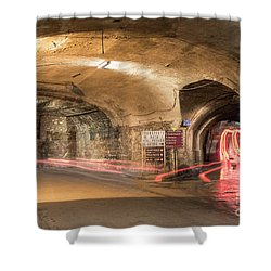 Underground Tunnels In Guanajuato, Mexico Shower Curtain by Juli Scalzi