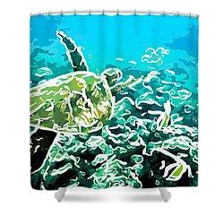 Underwater Landscape 1 Shower Curtain by Lanjee Chee