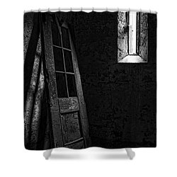 Unhinged Shower Curtain by Andrew Paranavitana