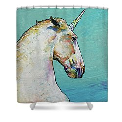Unicorn Shower Curtain by Michael Creese